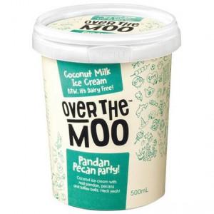 Over The Moo Dairy Free Ice Cream Pandan Pecan Party!