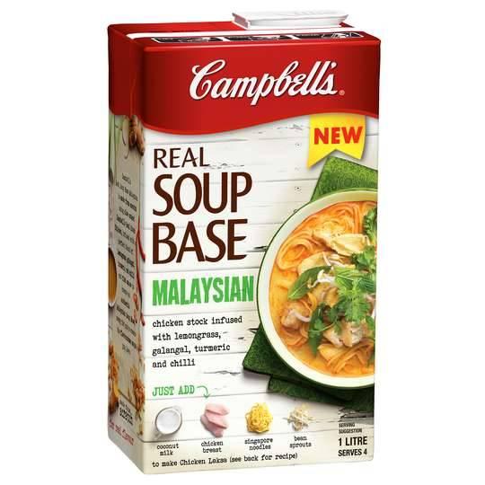 Campbells Real Soup Real Soup Base Malaysian