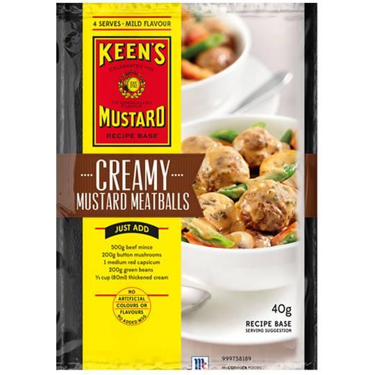 mom389534 reviewed Keens Recipe Base Creamy Mustard Meatballs