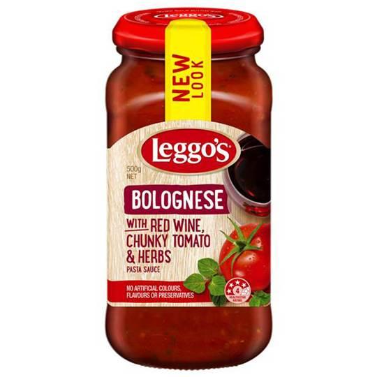 Leggos Pasta Sauce Bolognese Red Wine