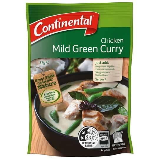 Continental Recipe Base Chicken Mild Green Curry