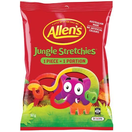 Allen's Jungle Stretchies Lollies