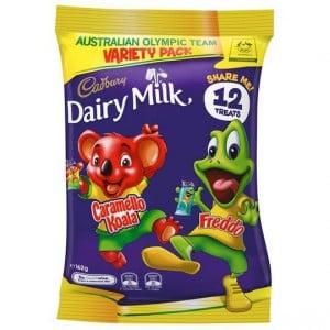 Cadbury Dairy Milk Freddo And Caramello Koala Sharepack