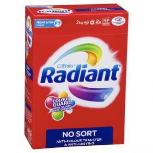 Radiant No Sort Laundry Powder Front & Top Loader Ratings