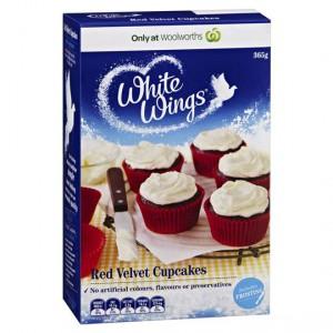 White Wings Cupcake Mix Red Velvet