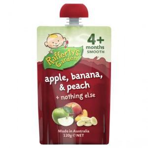 Rafferty's Garden Food 4 Months+ Apple, Banana & Peach