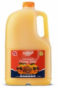 Nippy's Unsweetened Orange Juice