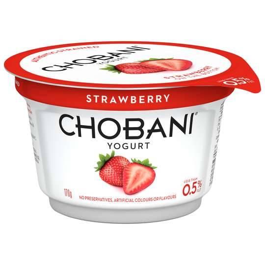 Chobani No Fat Strawberry Yoghurt