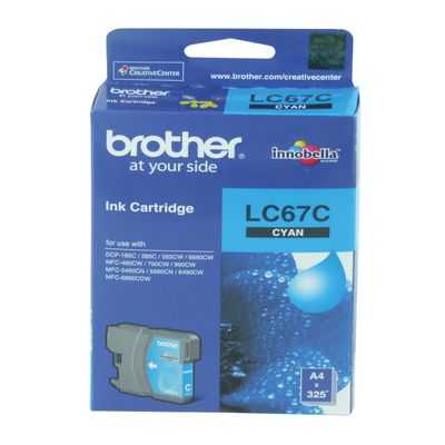 Brother Printer Ink Lc67c Cyan