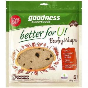 Goodness Superfoods Wraps Wholegrain Barley