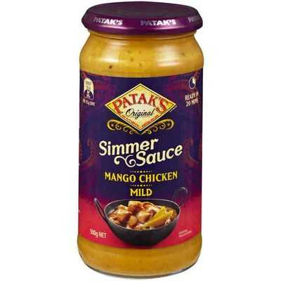 Pataks Simmer Sauce Mango Chicken