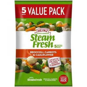 Heinz Steam Fresh Broccoli Carrots & Cauli