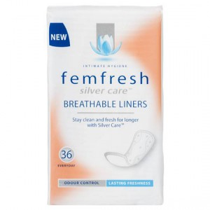 Femfresh Silvercare Panty Liners Breathable