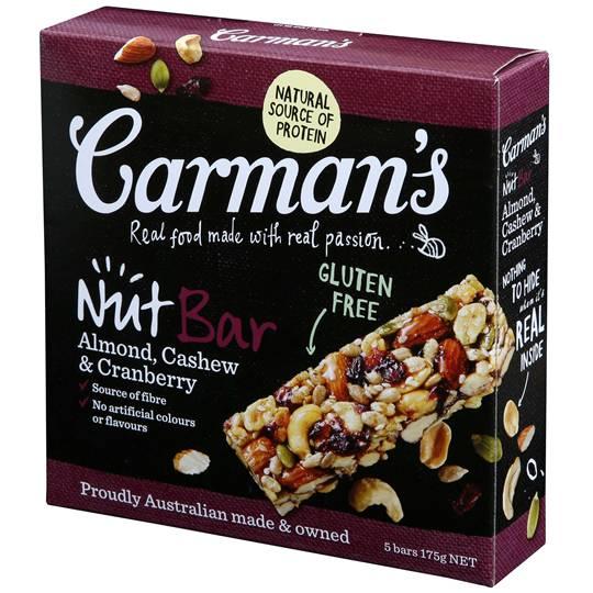 Carman's Almond, Cashew & Cranberry Nut Bars