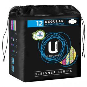 U By Kotex Designer Series Ultrathin With Wings Regular