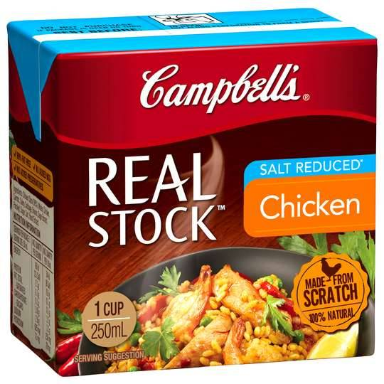 Campbells Real Chicken Stock Salt Reduced