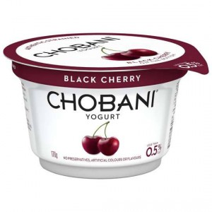 Chobani No Fat Black Cherry Yoghurt