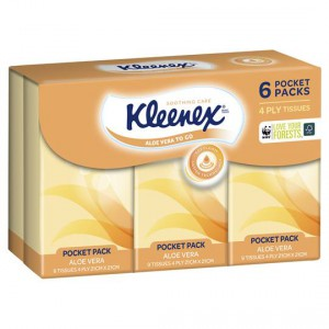 Kleenex To Go Facial Tissues Aloe Vera Pocket Pack