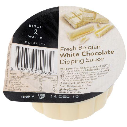 Birch & Waite Dipping Sauce Belgian White Chocolate