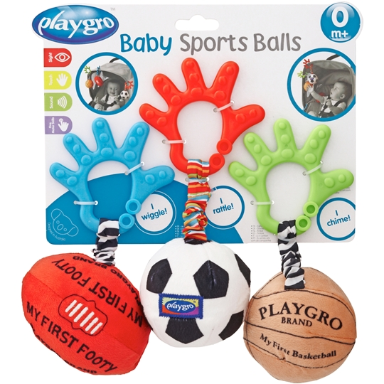 mom140882 reviewed Playgro Baby Toy Ball Trio