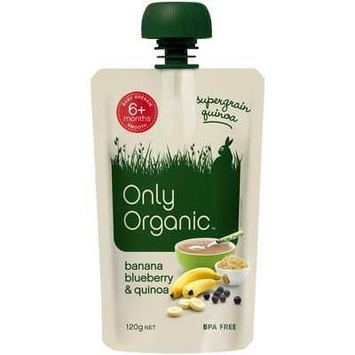 Only Organic 6 Months+ Banana Blueberry & Quinoa