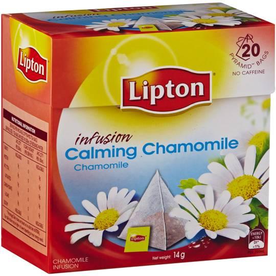 Lipton Herbal Infusion Pyramid Tea Bags Calming Chamomile