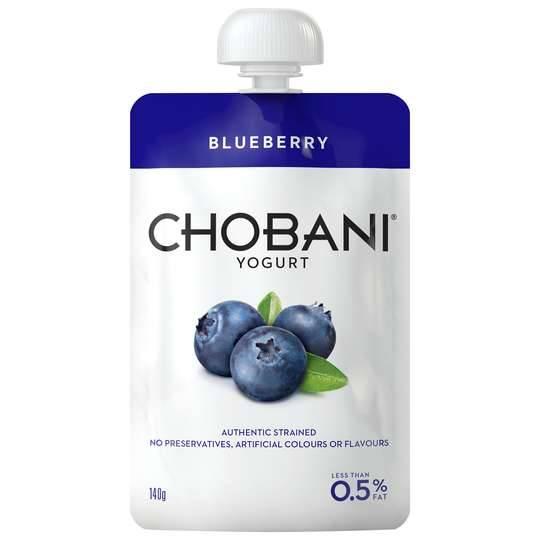 Chobani No Fat Blueberry Yoghurt Pouch