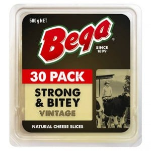 Bega Strong & Bitey Vintage Cheese Slices