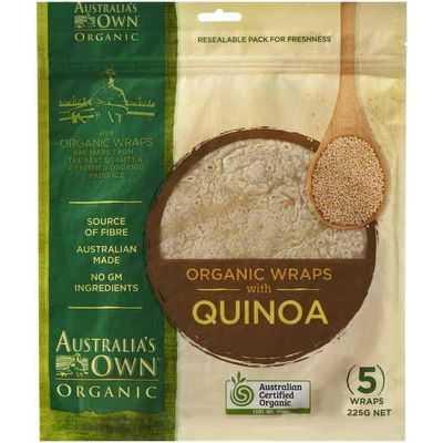 Australia's Own Wraps Organic Quinoa