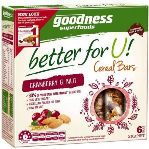 Goodness Better For U Cranberry & Nut Cereal Bars