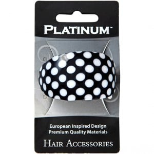 Platinum Hair Clip Oval French