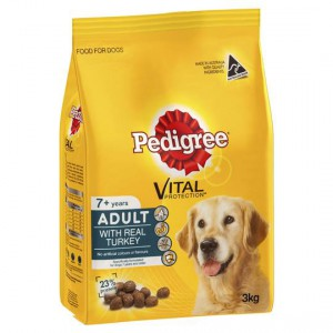 Pedigree Adult Dog Food With Real Turkey 7+