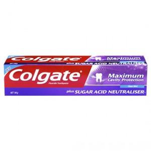 Colgate Max Cavity Protection Toothpaste Sugar Acid Neutrlsr Cool Mint
