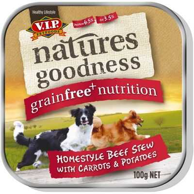 mom325811 reviewed Vip Natures Goodness Grainfree Adult Dog Food Beef Stew With Carrot & Potato