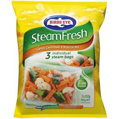 Birds Eye Steam Fresh Carrot Cauli Broc Mix