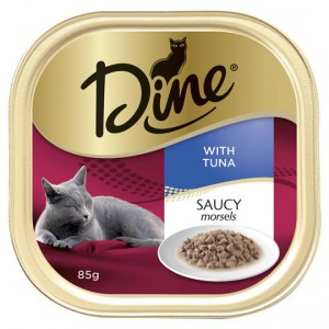 Dine Adult Cat Food Saucy Morsels With Tuna