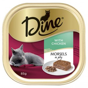Dine Adult Cat Food Morsels In Jelly With Chicken