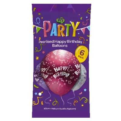 Party Balloons Happy Birthday