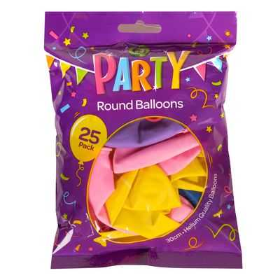 Party Balloons Assorted Colours