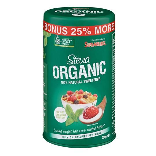 Jbuttxx reviewed Sugarless Stevia Organic Natural Sweetener Canister