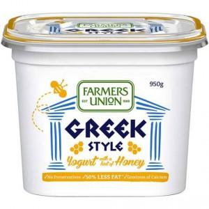 Farmers Union Light Greek Yoghurt Lite With Honey