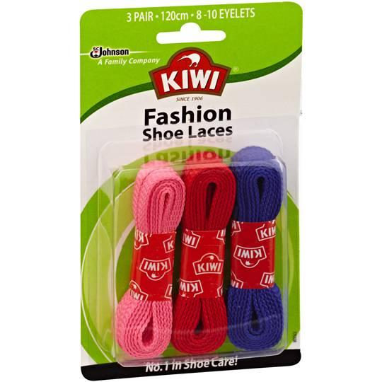 Kiwi Shoe Care Fashion Laces Coloured 120cm