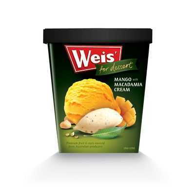 Weis For Dessert Ice Cream Mango With Macadamia Cream