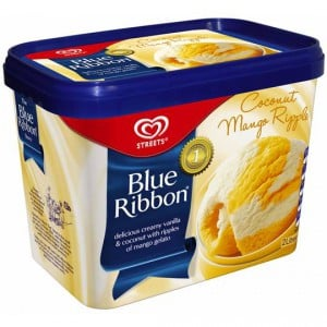 Streets Blue Ribbon Ice Cream Coconut Mango Ripple
