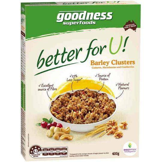 Goodness Superfoods Better For You Barley Clusters