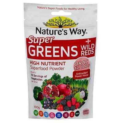 Nature S Way Super Greens Wild Reds