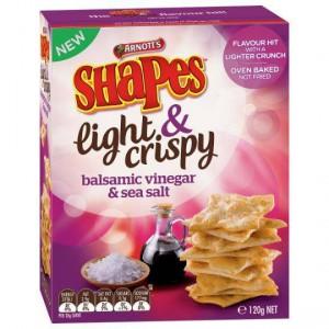 Shapes Light & Crispy Snacks Balsamic Vinegar & Sea Salt