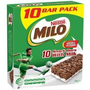 Nestle Milo Snack Bars With Milk