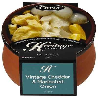 Chris' Heritage Dips Vintage Cheddar & Onion