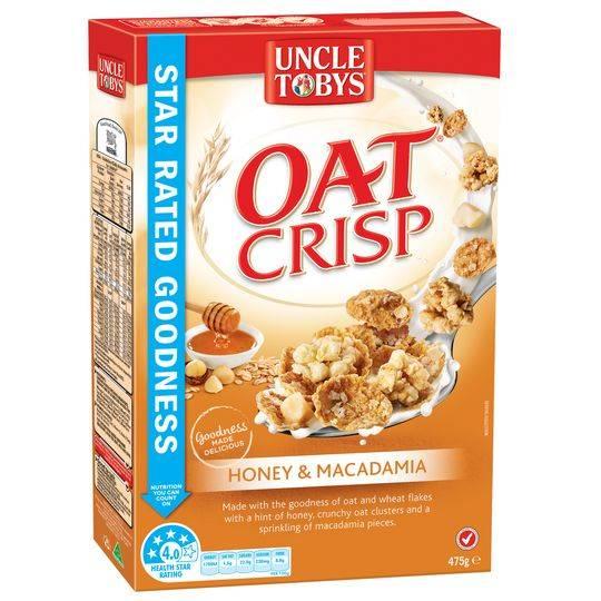 Uncle Tobys Honey & Macadamia Oat Crisp